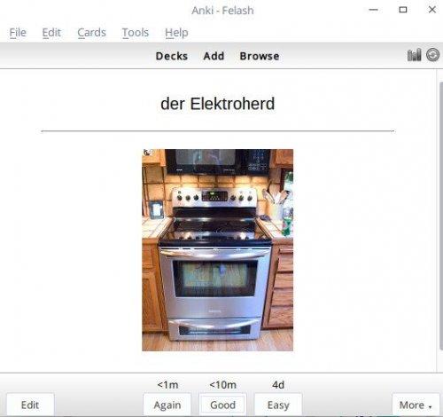 Screenshot for فلش کارت نام اشیا در زبان آلمانی